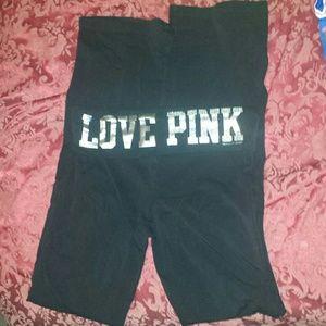 SALE!PINK Victoria Secret yoga pants black small s